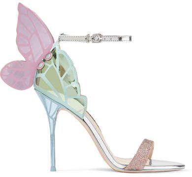 d34ce6fc3 Sophia Webster - Chiara Metallic Leather Sandals - Silver  fairy  heels   afflink  pumps  women  fashion  love  butterfly