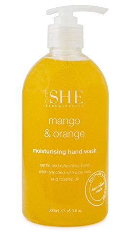 Om She Aromatherapy Pure Organics Hand Wash Mango Orange 169 Fl Oz