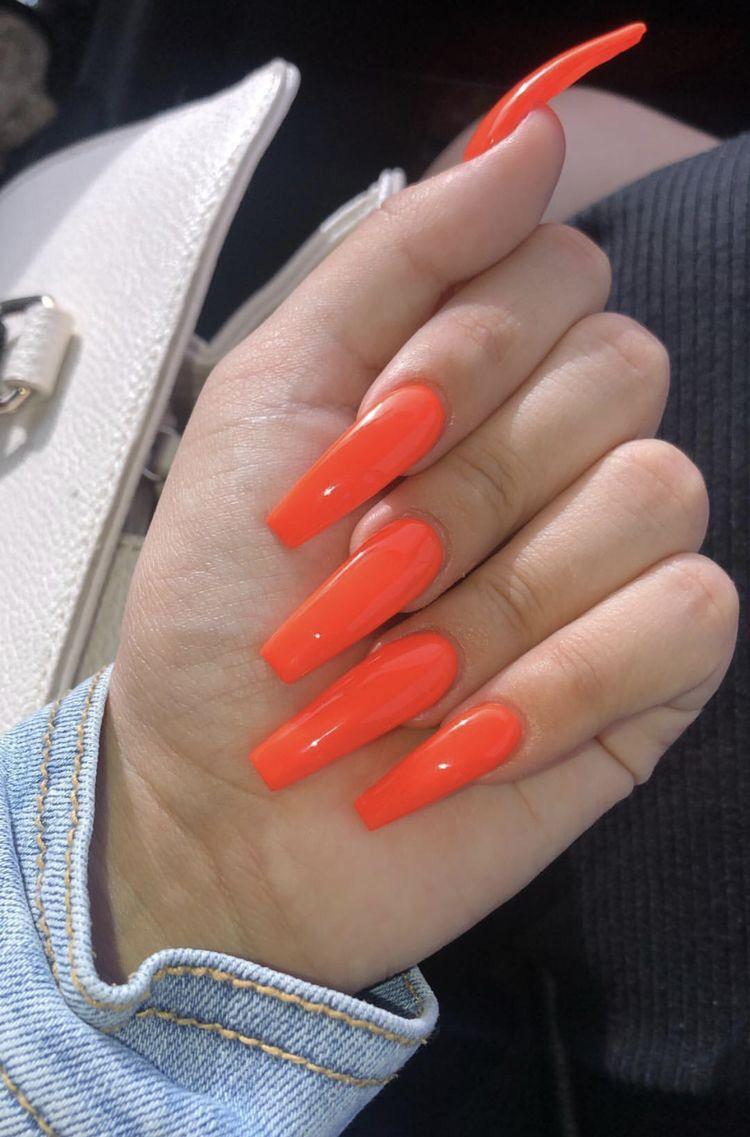 37 Perfect Acrylic Long Nail Design For Women - Bebeautylife