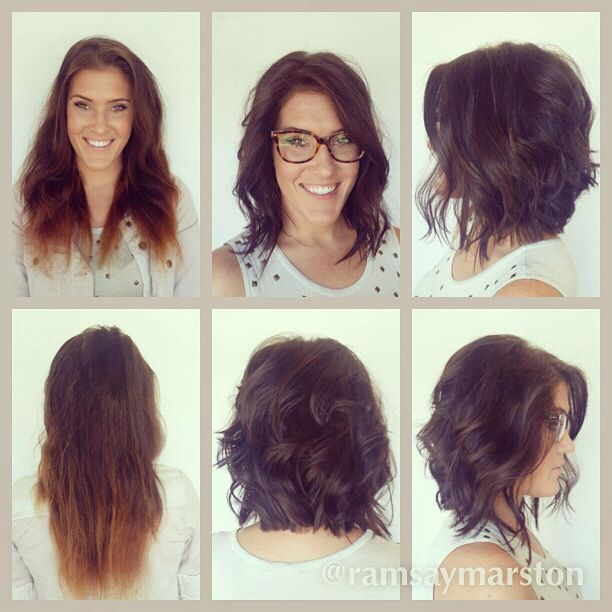 Before and after Long bob. Textured bob. Waves. Hair by ...