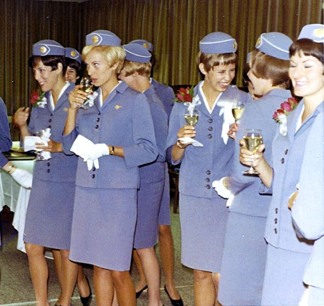 16daf742109 Pan Am stewardesses 1960s | (Then and Now) Fashiontastic! | Pan am ...