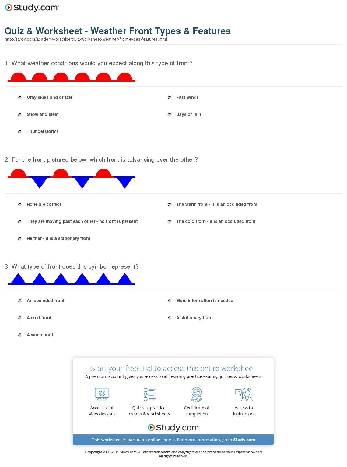 worksheet Weather Worksheets Middle School image result for weather worksheets middle school classroom school