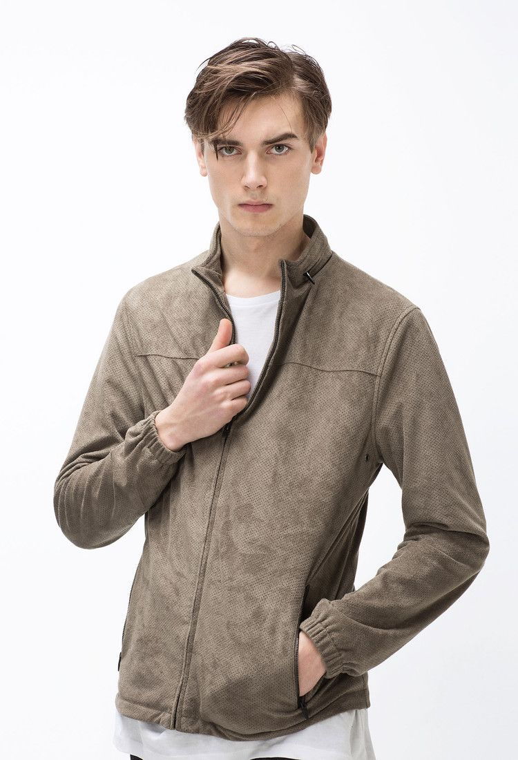 Perforated Faux Suede Jacket Faux Suede Jacket Mens Jackets Faux Suede