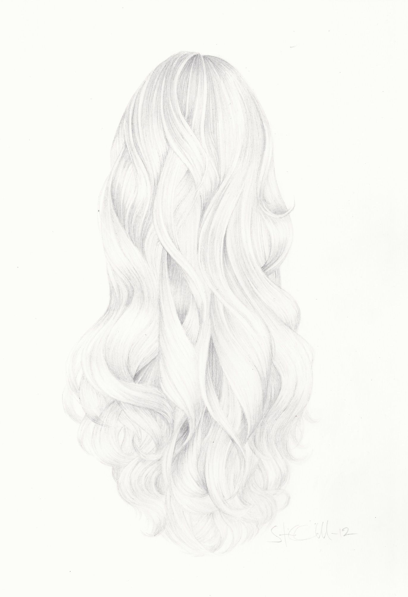Hair Drawing By Sofia Gregersen Cardell Artsy Pinterest