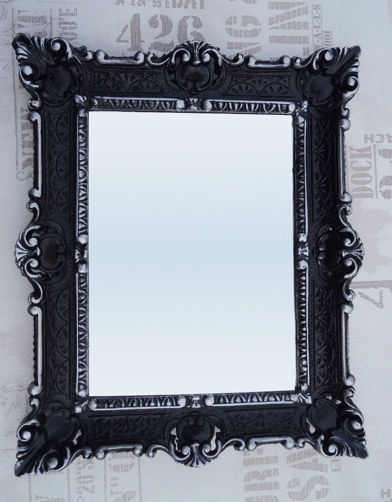 http://www.ebay.de/itm/WANDSPIEGEL-56x46-SCHWARZ-SILBER-ANTIK-BAROCK ...
