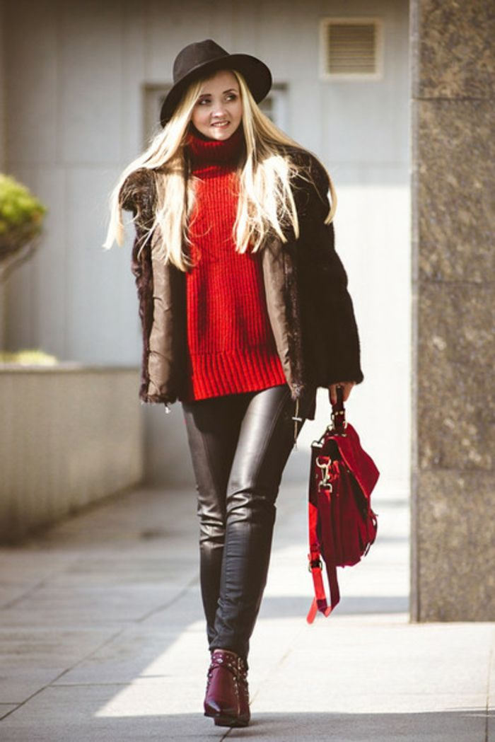 Big Black Boots Long Blonde Hair
