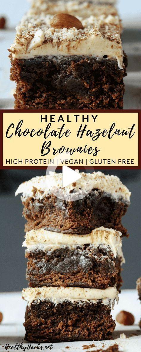 Gesunde Schokolade Haselnuss Brownies   gesunde Hacks Diese gesunde Nachtischrezept werden Sie aus