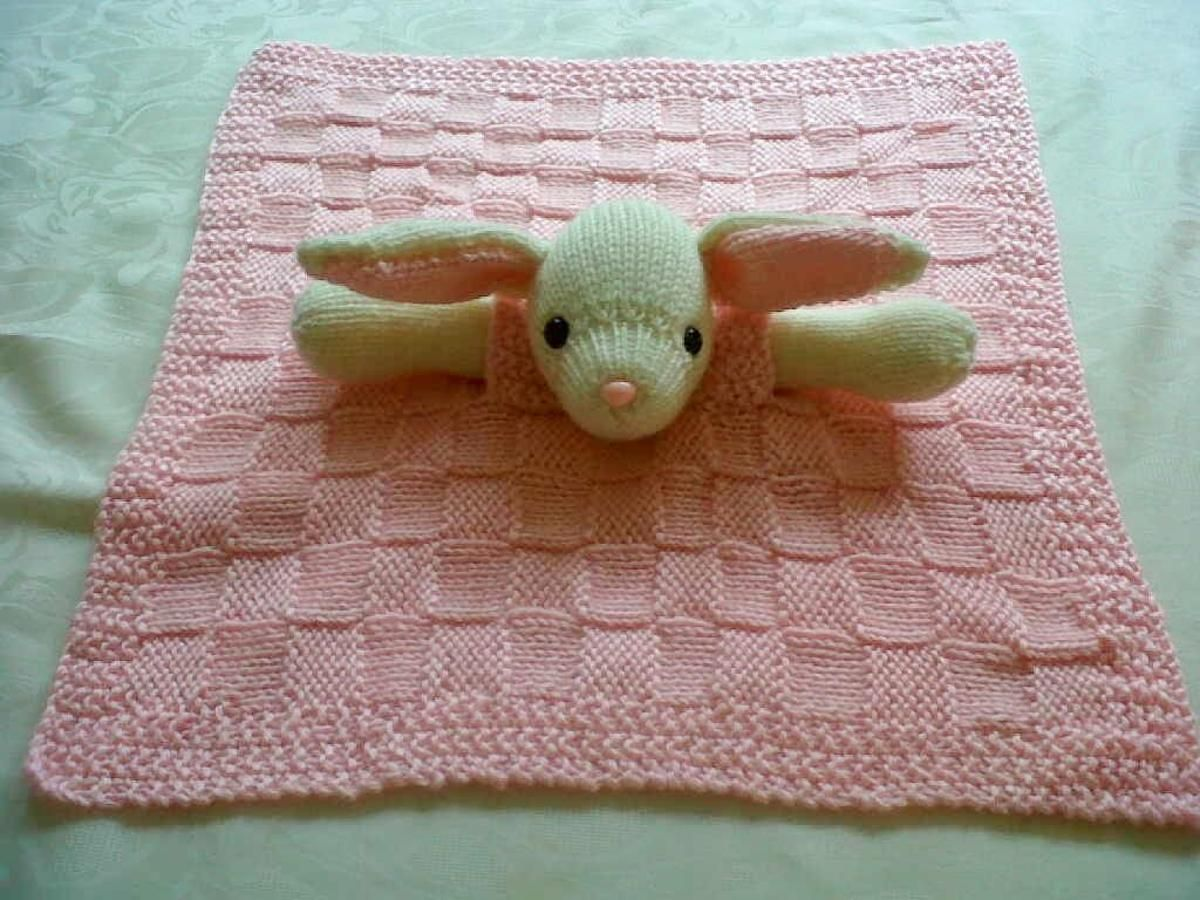 Bunny Buddy Comfort Blanket | Bunny, Blanket and Knitting patterns