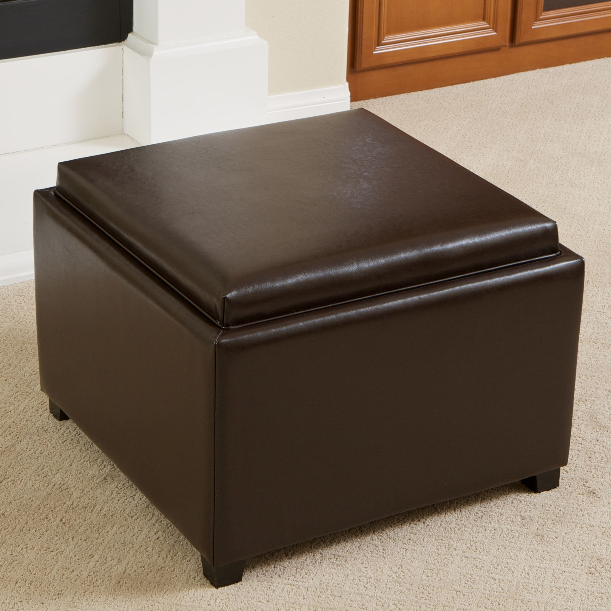 Jefferson Tray Top Storage Ottoman