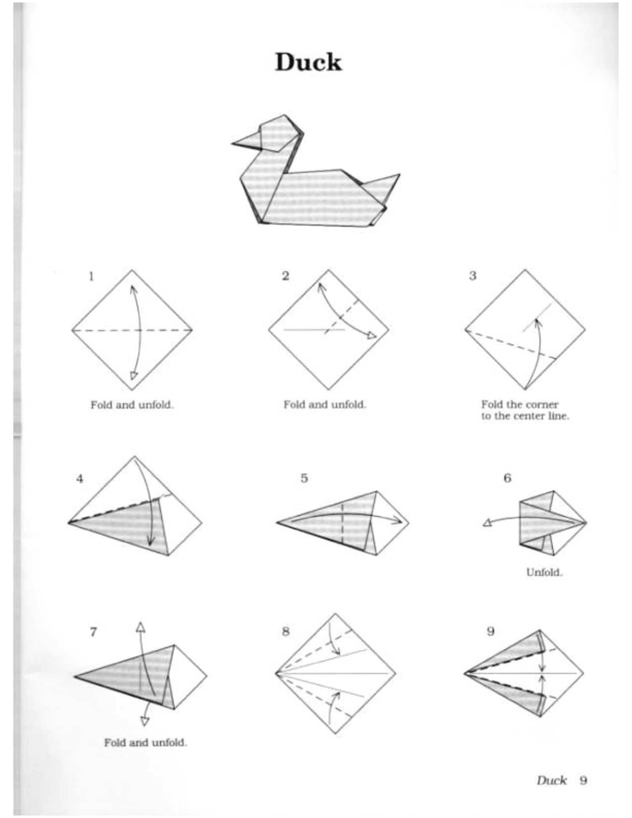 Duck Pdf Origami Pinterest Diagrams And 3d Peacock Diagram Stick Tail Koi Oragami Cute Crafts Paper