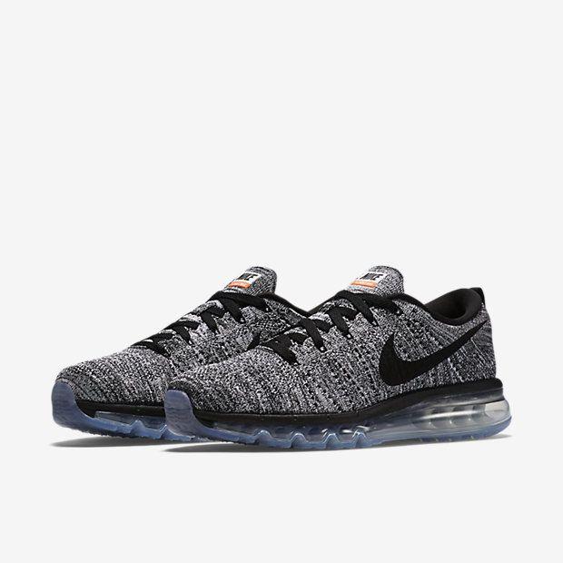 uomo nike flyknit air max running scarpe grey