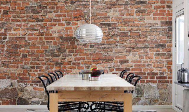 10 Fabulous Feature Wall Ideas Brick Wall Kitchen Brick Wallpaper Kitchen Brick Wall Decor