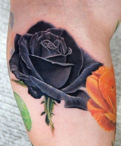 ca0a3e6115812 Black Rose Tattoo - 15 Tattoo Designs and Meanings | Body of Art ...