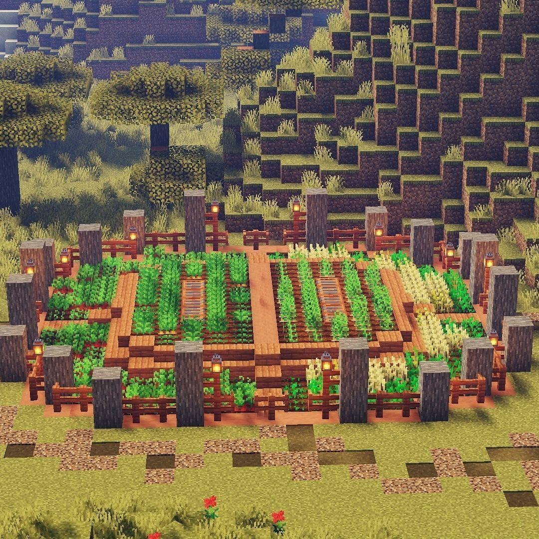 Minecraft Farm Ideas Design Minecraft Farm Ideas Minecraft Farm Minecraft Garden Minecraft Stables