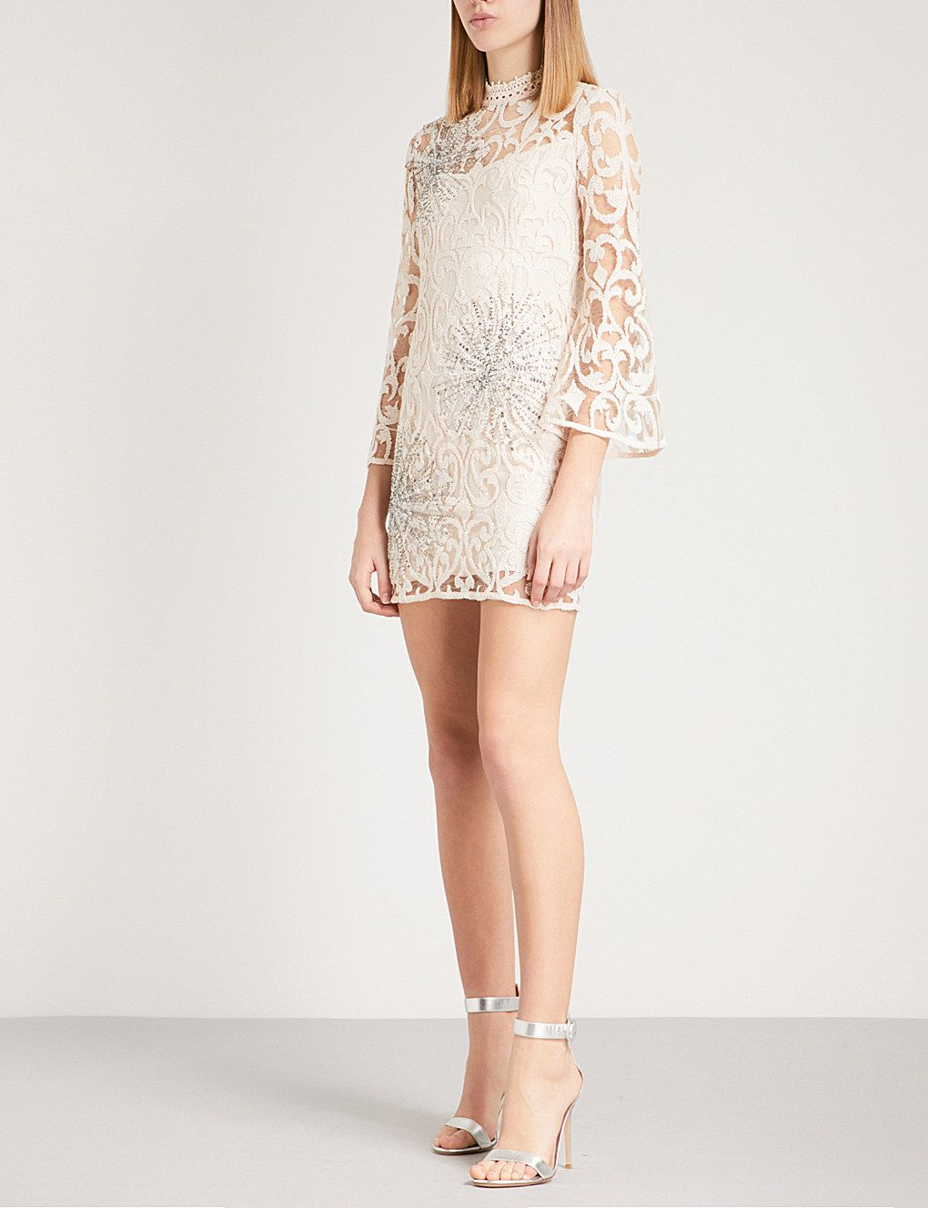 8af2ebd84 FREE PEOPLE North Star embellished lace mini dress