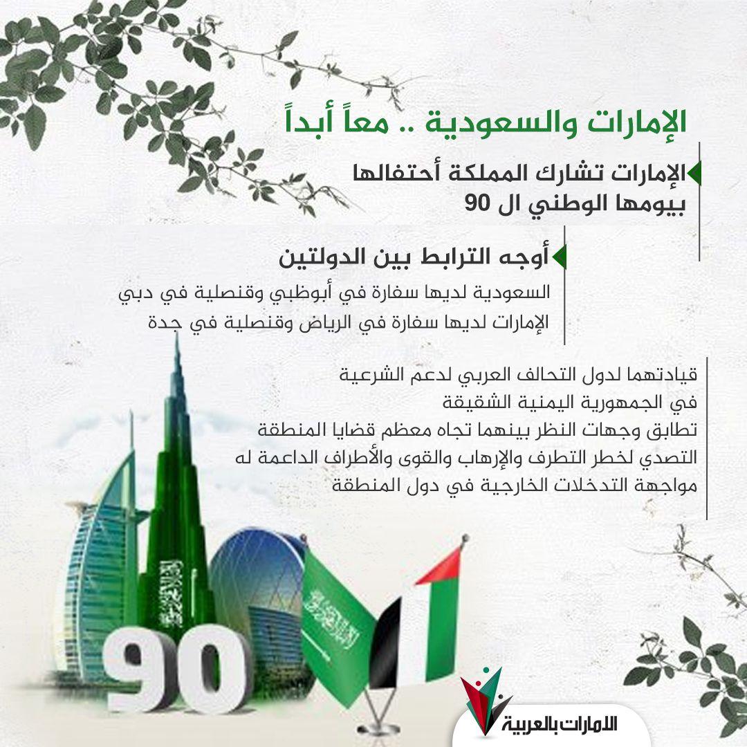 الإمارات والسعودية معا أبدا Saudi Arabia Togetherness Dubai