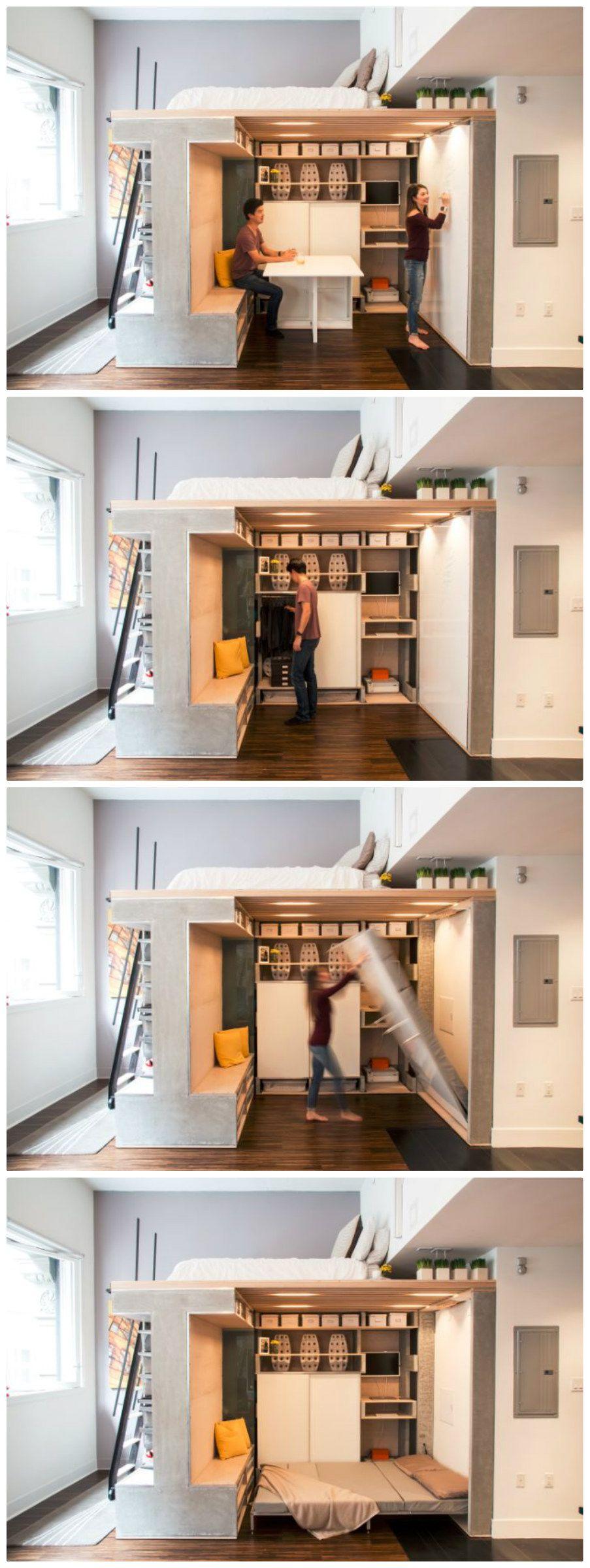small loft furniture. Multi-functional Loft Transforms A Small Condo Into Dynamic Space Furniture G