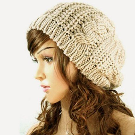 98cb20a547b Knitted Hats · Ski · Winter Fashion · JOVANA New Arrival Top Fashion Winter  Warm Women Lady Yong Girls Baggy Beret Chunky Knit Knitted