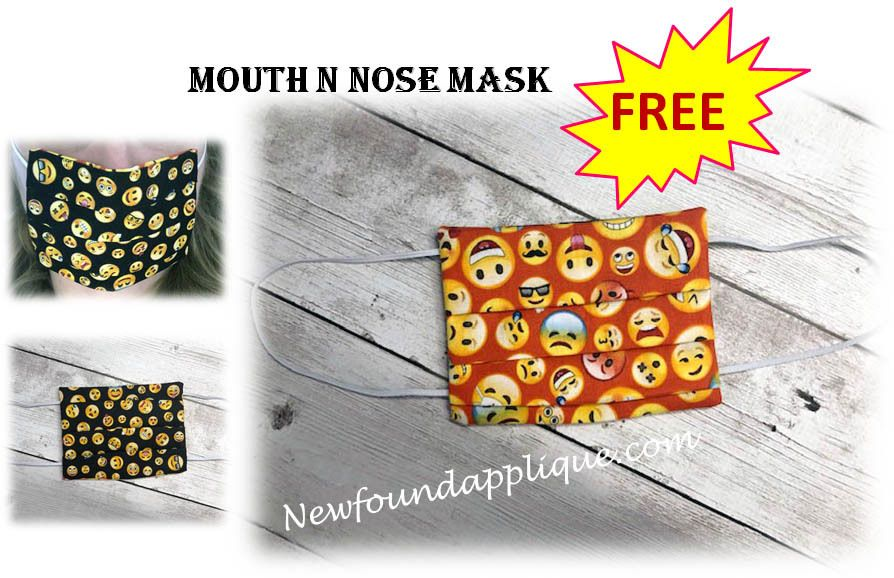 Mouth N Nose Mask Embroidery Machine Design In 2020 Machine