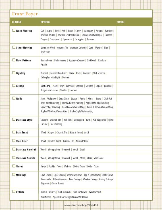 Home Building Checklist Building A House Checklist Cool House Designs Building A New Home