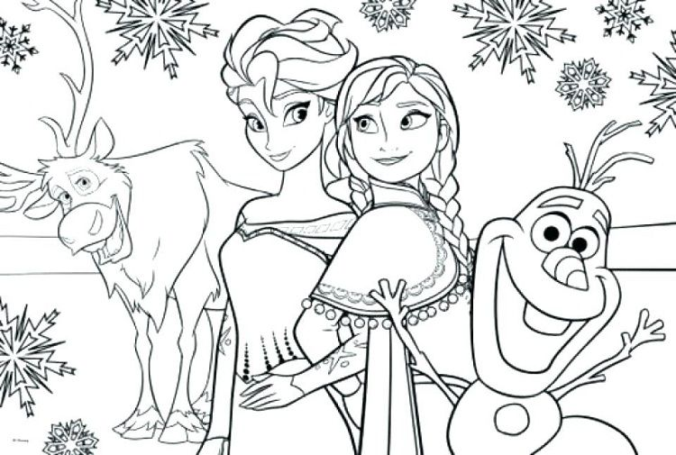 full size frozen coloring pages  Coloring Pages For Kids