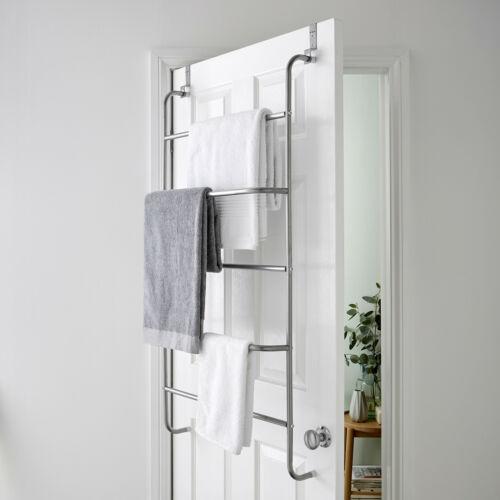 Details About 5 Tier Over Door Clothes Airer Towel Rail Rack