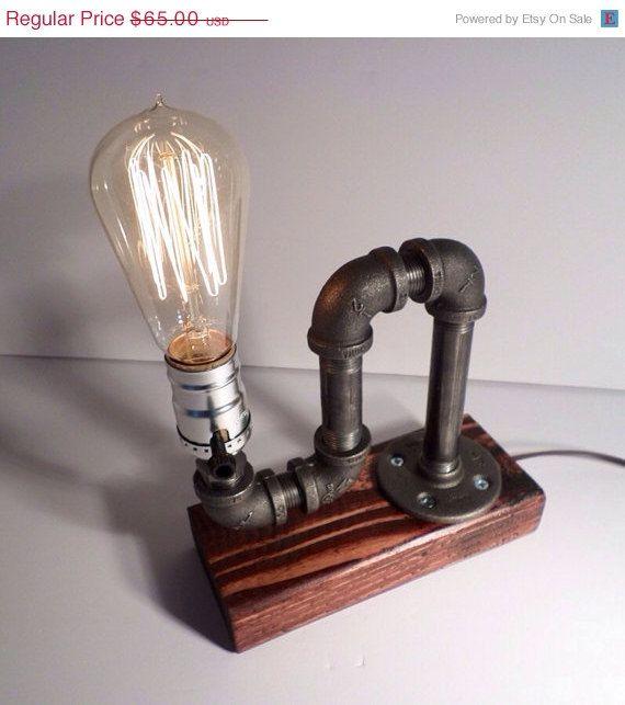 Industrial Lighting Lighting Rustic Light Steampunk: Edison Lamp/Rustic Decor/Unique Table Lamp/Industrial