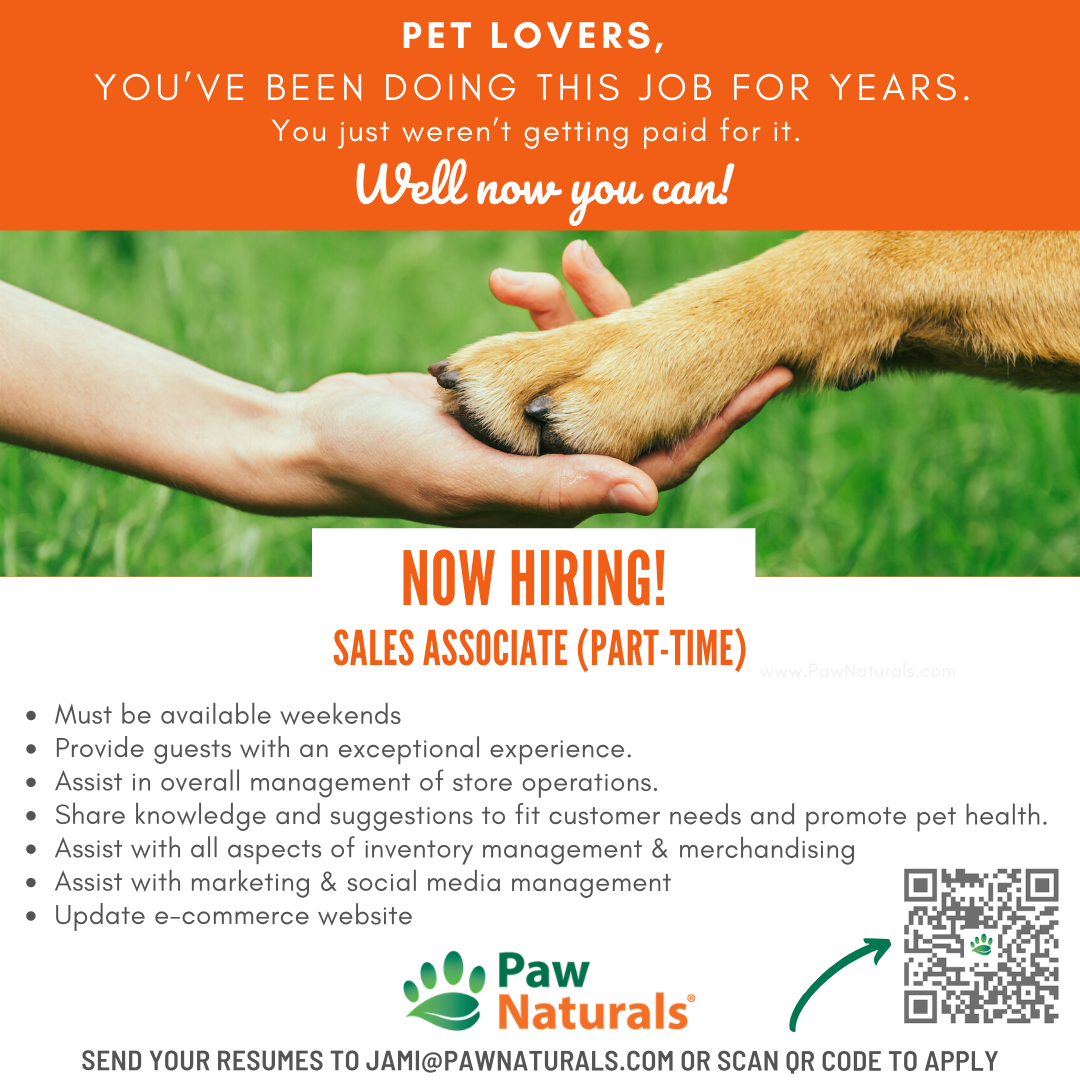 Do You Speak Dog Or Cat If So Let S Talk We Re Hiring Click The Link Or Scan Qr Code To Apply Http Bit Ly 2w In 2020 How To Apply Animal Lover Let It