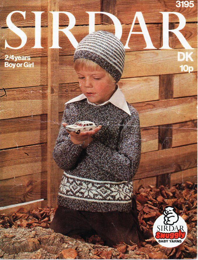c5d3b1440536 childrens fairisle sweater hat knitting pattern pdf toddler fairisle ...