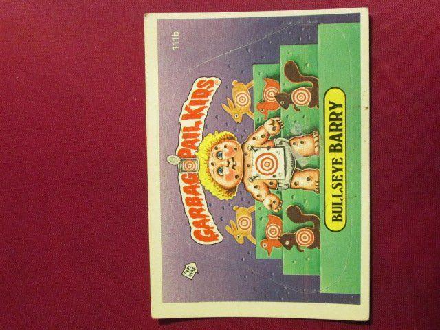 Garbage Pail Kids Trading Card 1986 Bullseye Barry 111b Garbage Pail Kids Cards Garbage Pail Kids Pail