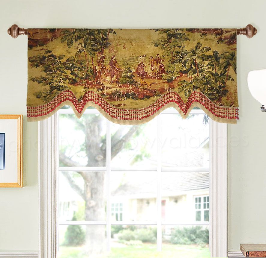 Step 1 Double Layered Scalloped Valance Cool Curtains Tuscan Design Valance
