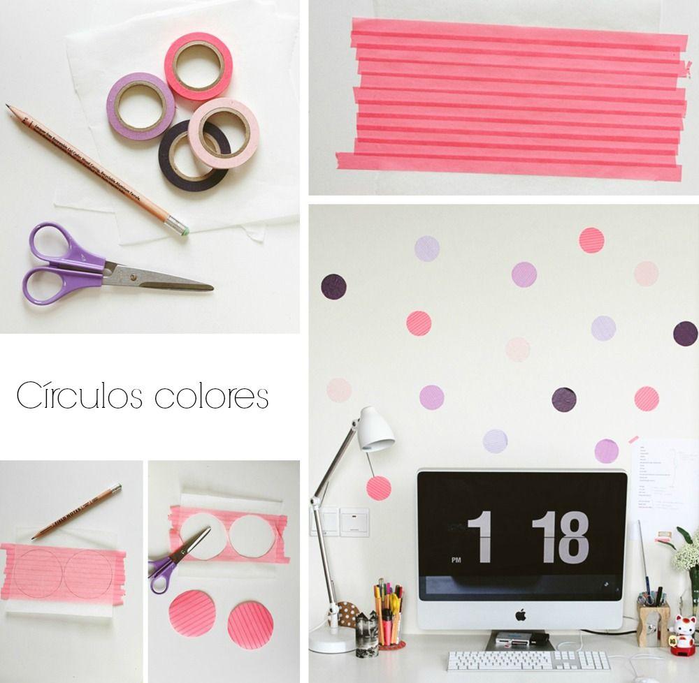 DIY Cómo decorar paredes con washi tape y polka dots | el taller de ...
