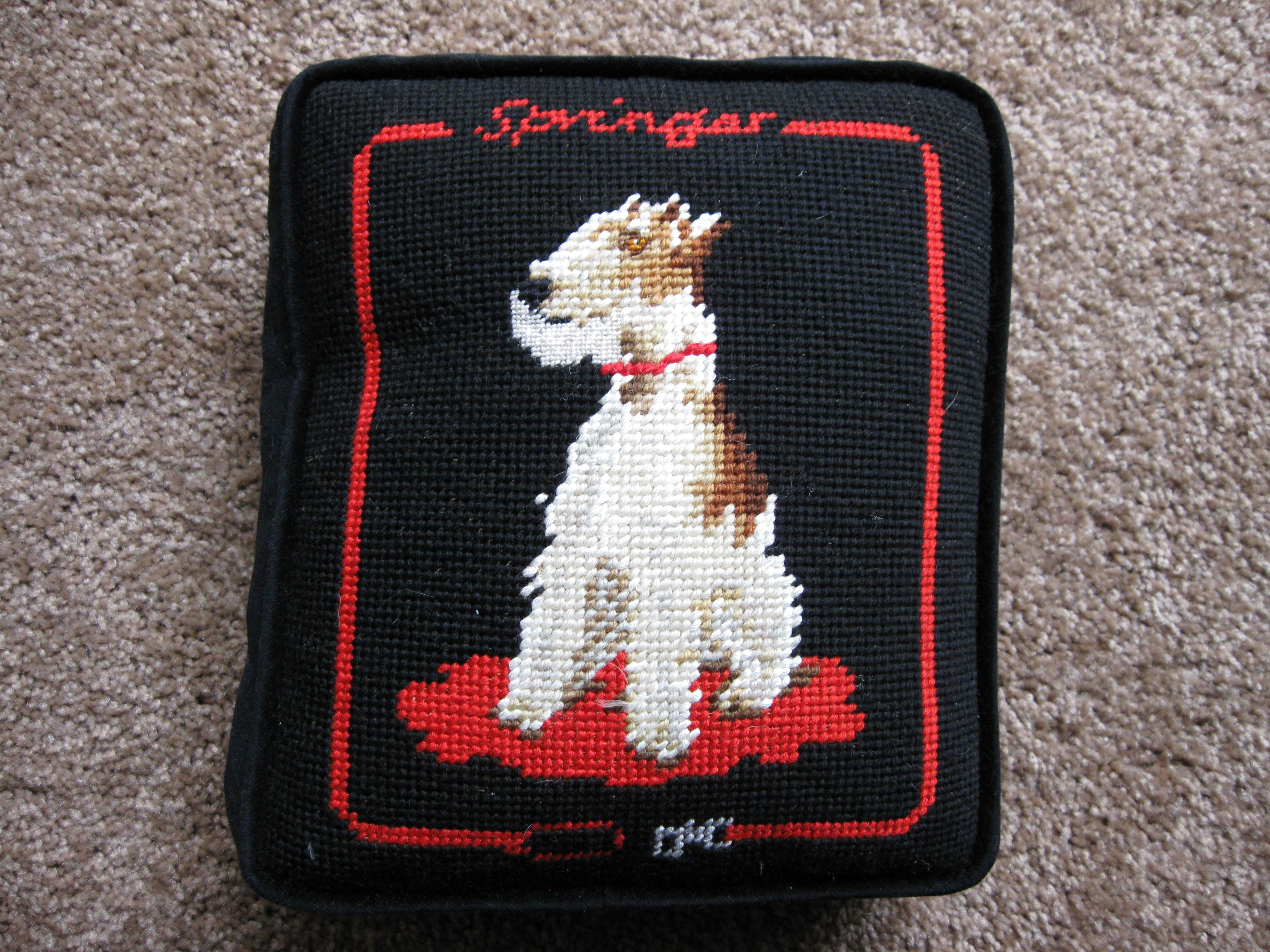 Dogs Sunset Silhouette Needlepoint Kit or Canvas