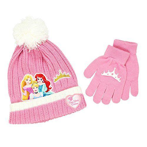 NEW Girls Beanie Hat Gloves Set Disney Princess Elena of Avalor Winter Knit Cap