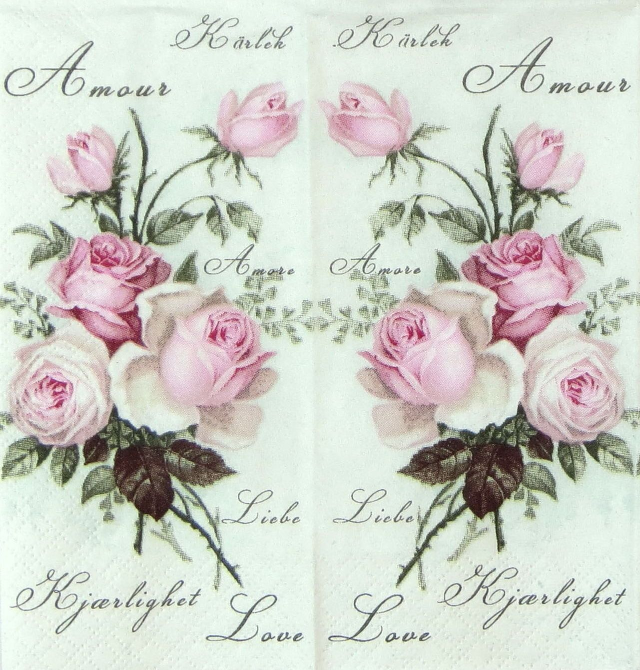 0.99 GBP - 4X Single Luxury Tissue For Decoupage And Craft Roses ...