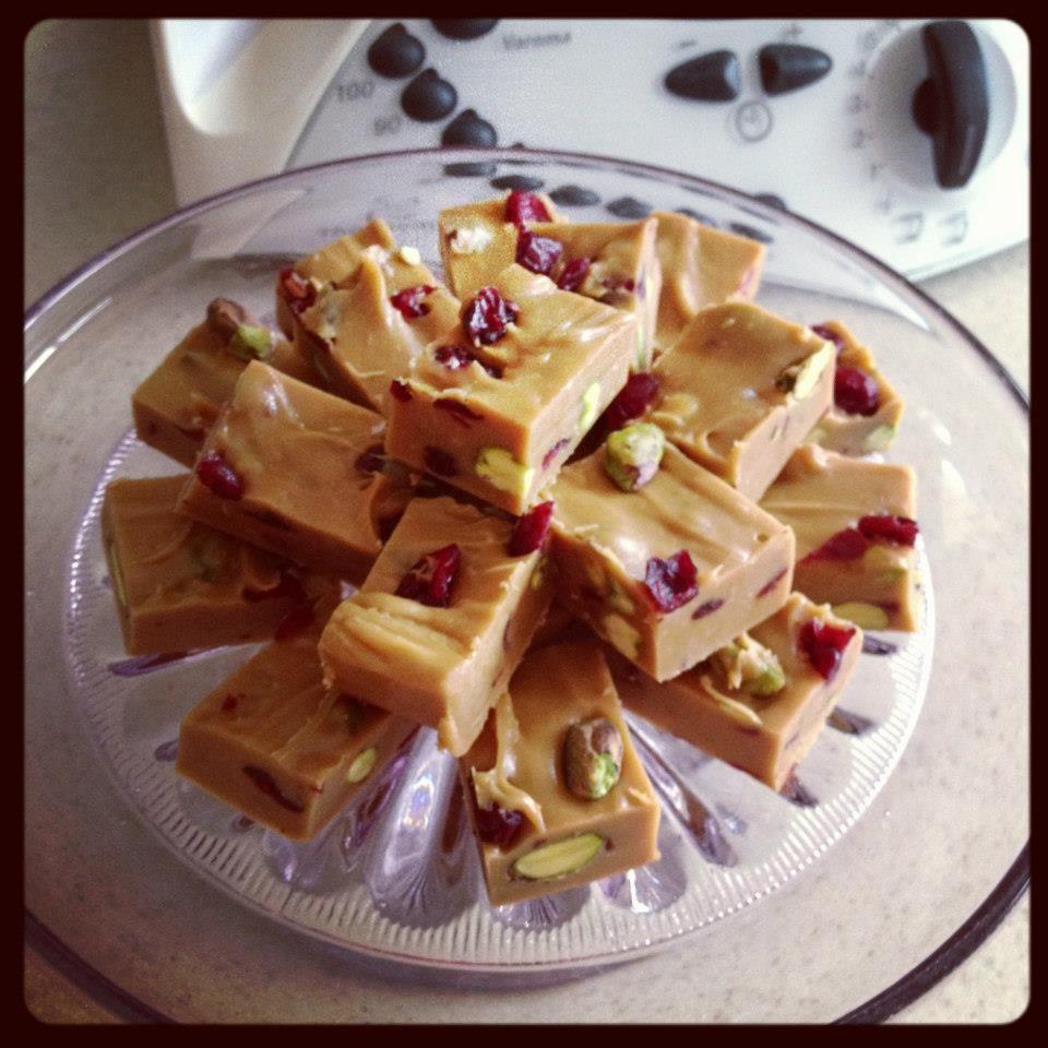 Festive Fudge Cranberry fudge, Christmas cooking, Fudge