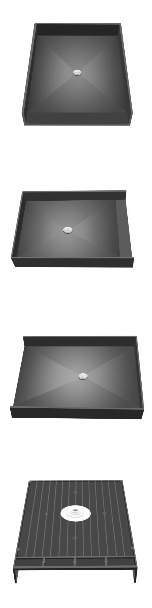Shelves 31385: Tile Redi 4637Cbf Pvc 46 X 37 Barrier Free Shower Pan With