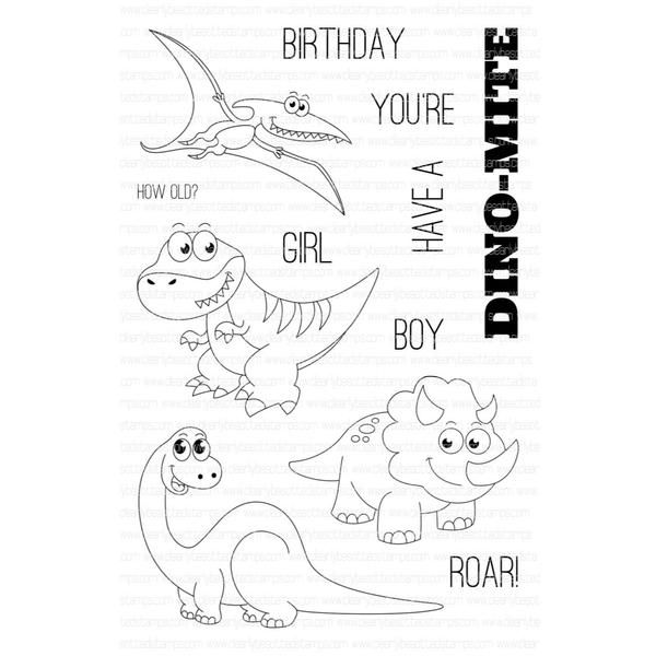 Ellen Hutson, LLC features Clearly Besotted Clear Stamps, Dino-Mite.