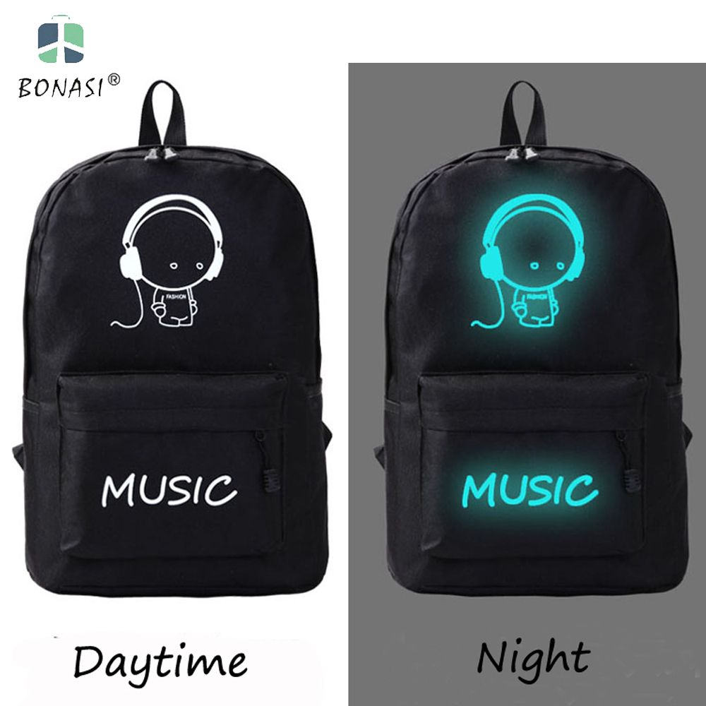 2017 New Cool Oxford Noctilucence Cartoon Design Backpack Girls ...