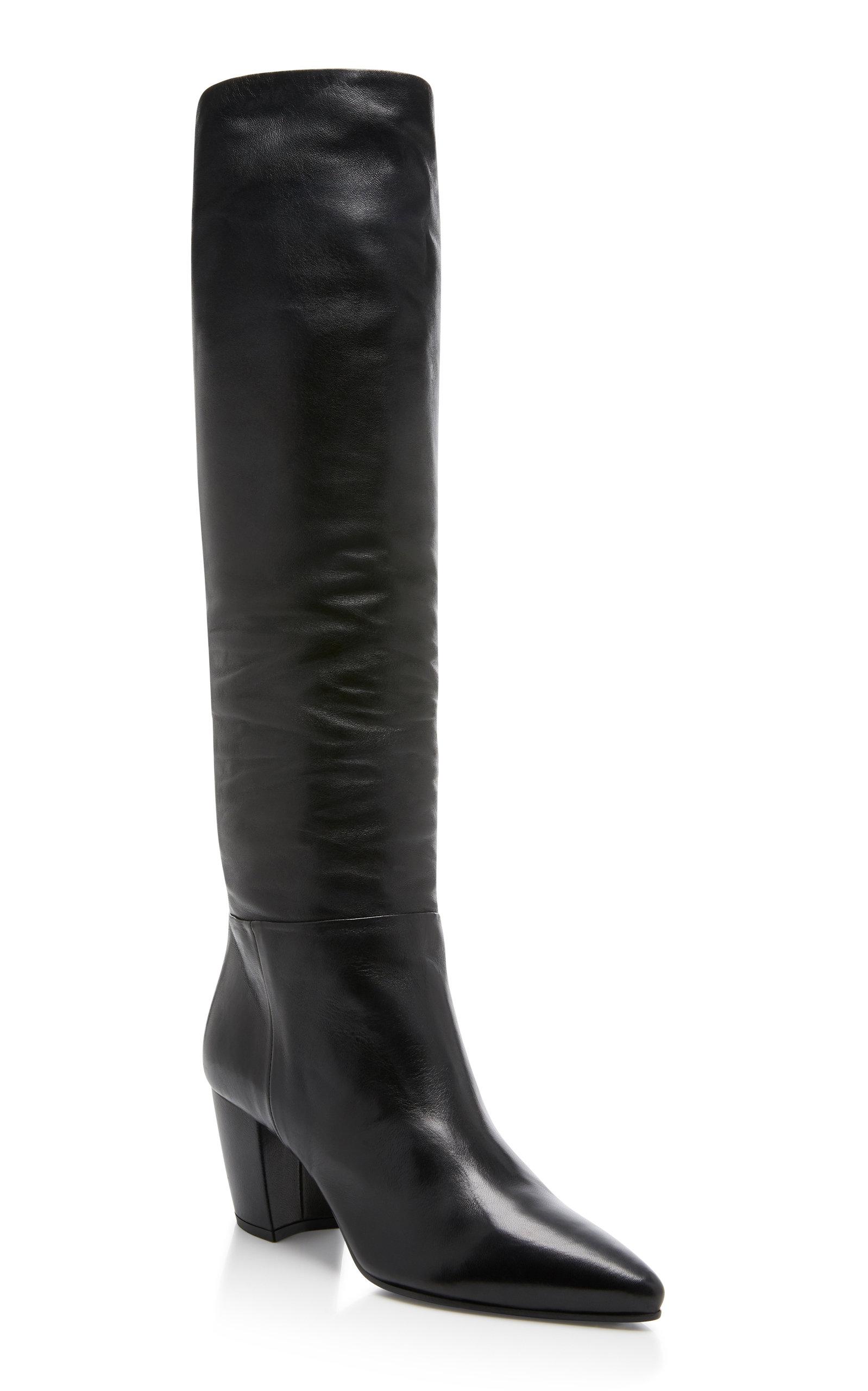 e47739e4964 Prada Slouchy Leather Boots | AW19 | Boots, Leather boots, Prada