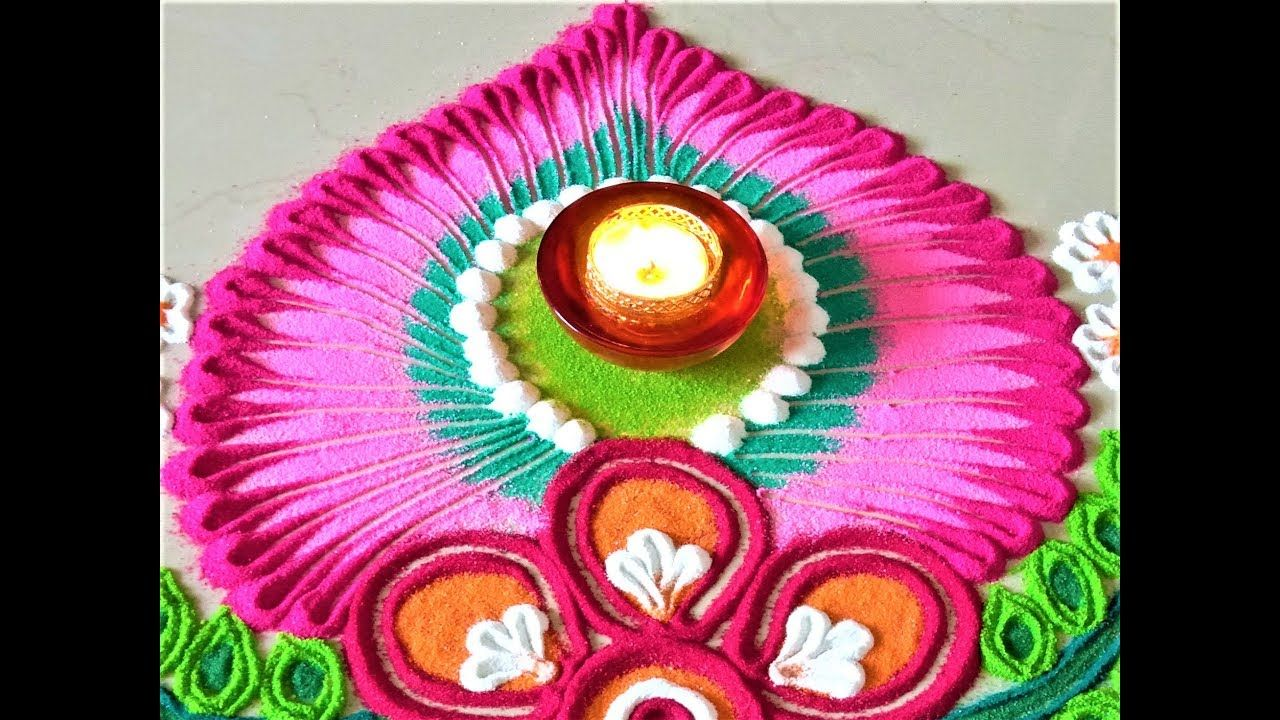 Super Easy , Small and Attractive Diwali Rangoli for
