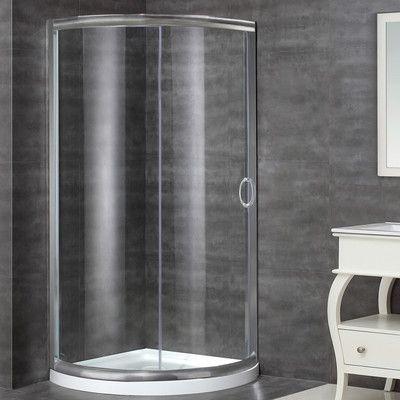 Aston 36 X 77 5 Round Sliding Shower Enclosure Shower