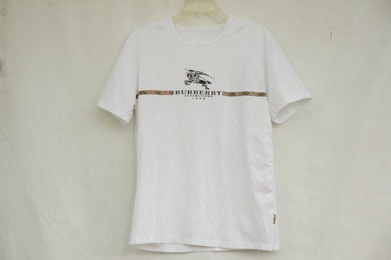 9d6867650458f1 Vintage 90s Burberry T-shirt Made In England/Preppy/High Fashion ...