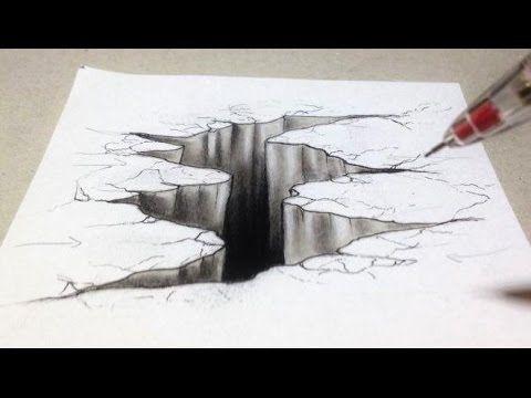 Comment Dessiner Un Trompe L œil 3d Fissure Tutoriel Youtube