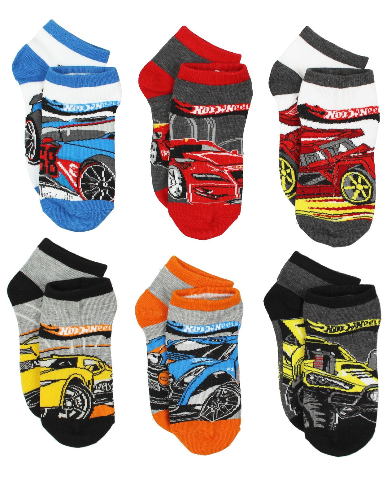 e1fcb0c26 $12.99 - Hot Wheels Boys 6 Pack Socks (Little Kid/Big Kid) Hw005Bqs #ebay  #Fashion