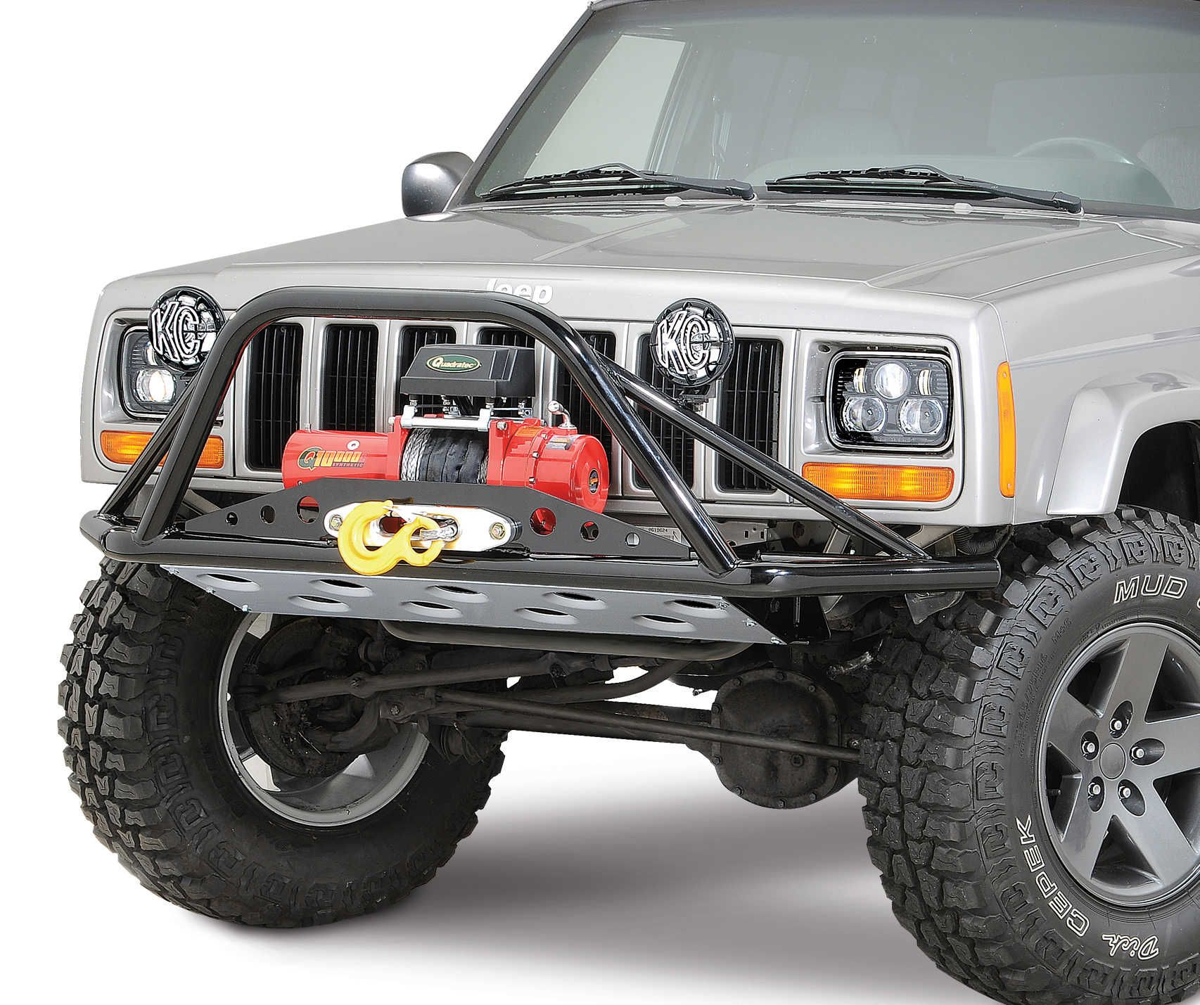 Rusty S Offroad Products Rusty S Offroad Products Pre Runner Winch Bumper For 84 01 Jeep Cherokee Xj Quadratec Jeep Bumpers Winch Bumpers Jeep Cherokee Xj