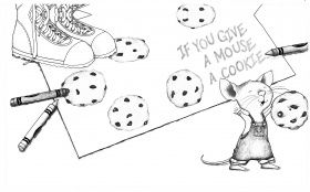 If You Give A Mouse A Cookie Coloring Page Coloring Pages Party