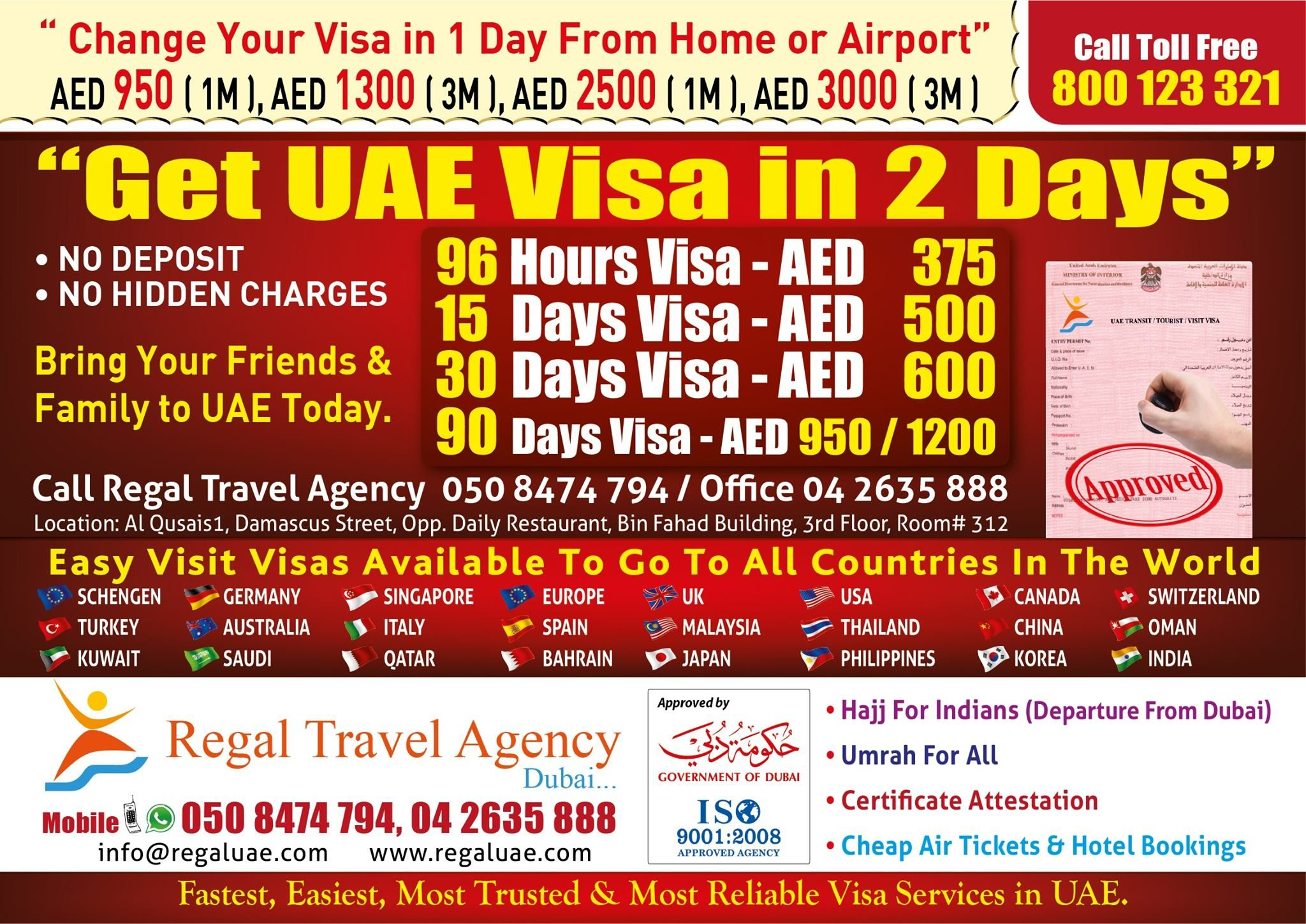 Time Consultant You changed, Visa, Dubai