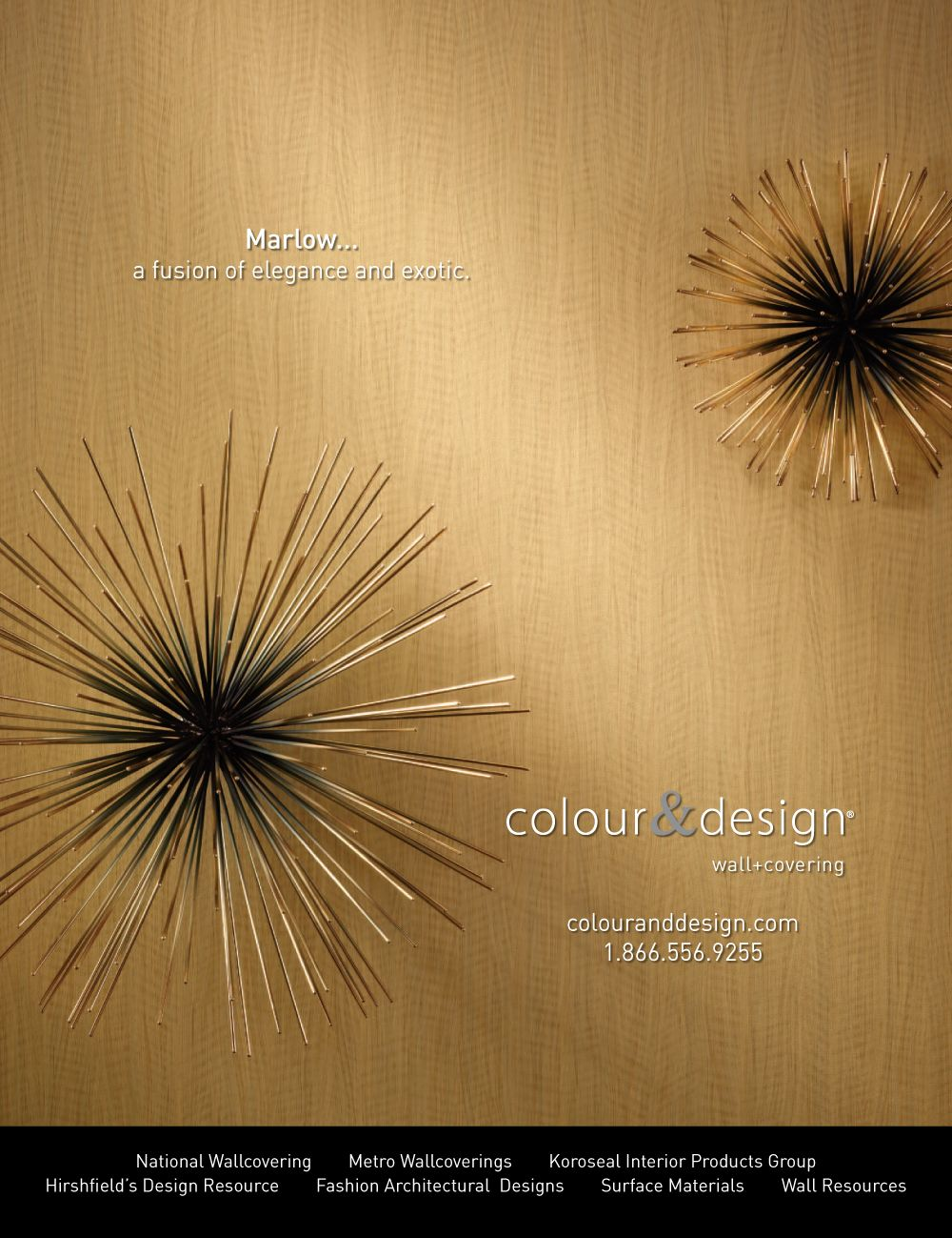 Colour Designs Marlow Wallcovering Advertisement for October