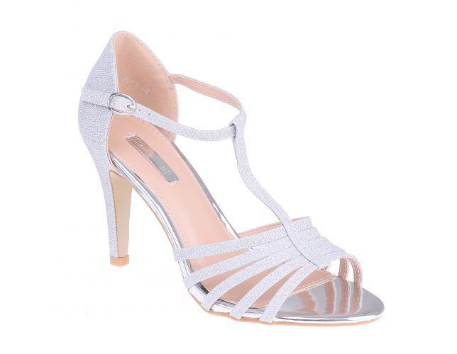 Chaussures de soirée argentées femme HIPLtvt